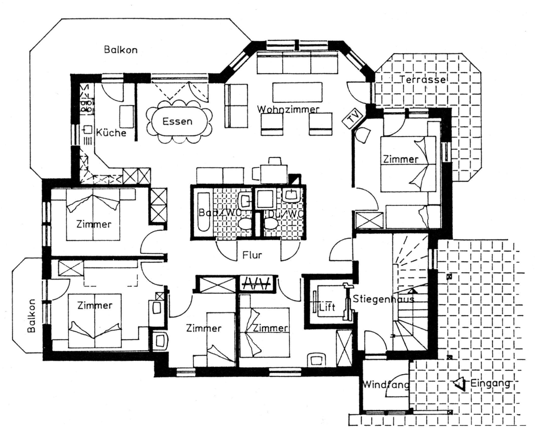 6 5 zimmer 10 12 pers nr 11. Black Bedroom Furniture Sets. Home Design Ideas